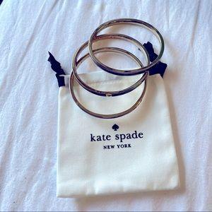 Kate Spade heritage spade thin enamel bangles